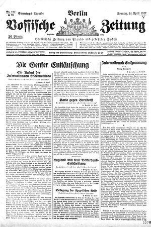 Vossische Zeitung vom 24.04.1927