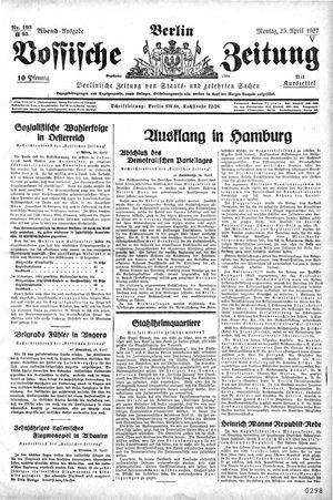 Vossische Zeitung vom 25.04.1927
