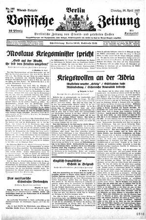 Vossische Zeitung vom 26.04.1927