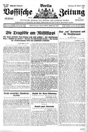 Vossische Zeitung vom 29.04.1927