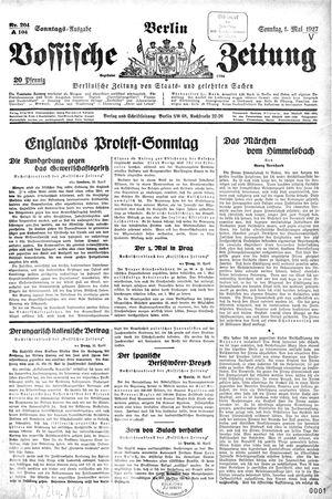 Vossische Zeitung vom 01.05.1927