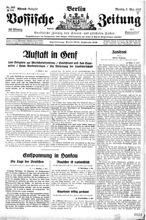 Vossische Zeitung on May 2, 1927