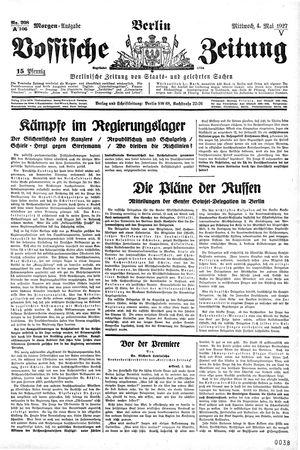 Vossische Zeitung vom 04.05.1927
