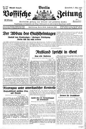 Vossische Zeitung vom 07.05.1927