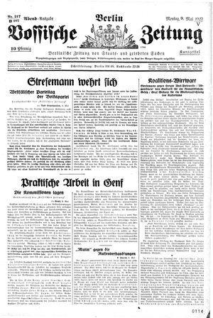 Vossische Zeitung on May 9, 1927