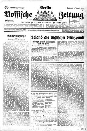 Vossische Zeitung vom 01.01.1928