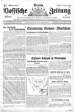 Vossische Zeitung vom 02.01.1928