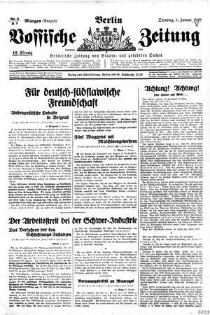 Vossische Zeitung vom 03.01.1928
