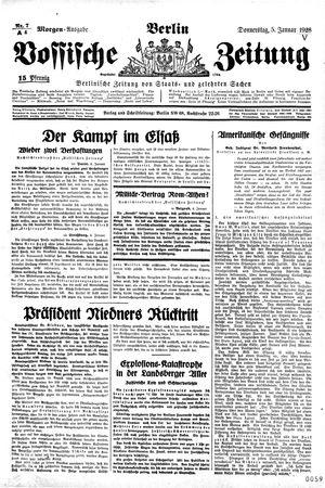 Vossische Zeitung vom 05.01.1928