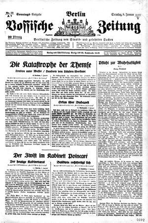 Vossische Zeitung vom 08.01.1928