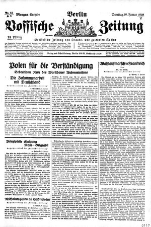 Vossische Zeitung vom 10.01.1928