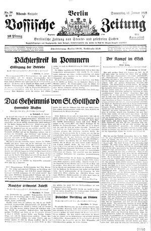 Vossische Zeitung on Jan 12, 1928