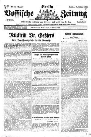 Vossische Zeitung vom 13.01.1928