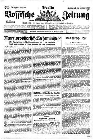 Vossische Zeitung vom 14.01.1928
