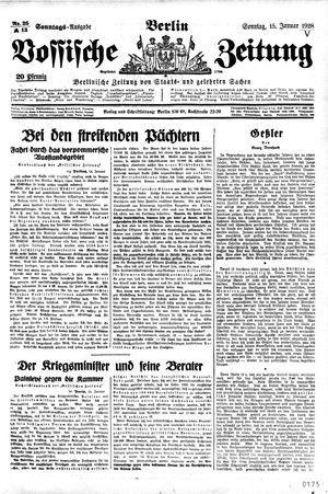 Vossische Zeitung on Jan 15, 1928