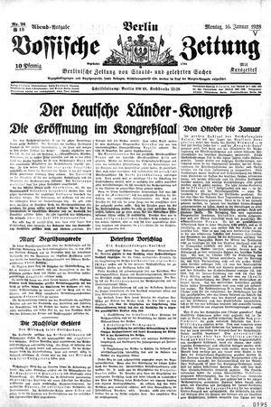 Vossische Zeitung on Jan 16, 1928