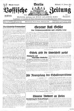 Vossische Zeitung vom 18.01.1928