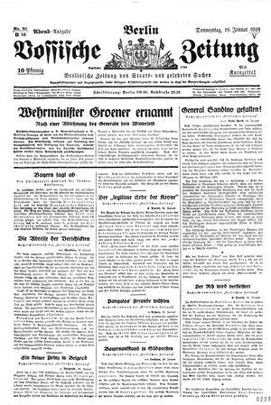Vossische Zeitung vom 19.01.1928