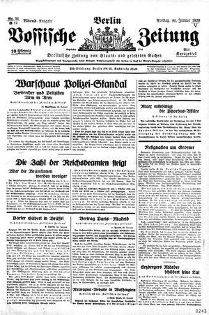Vossische Zeitung vom 20.01.1928