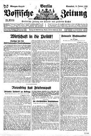 Vossische Zeitung vom 21.01.1928