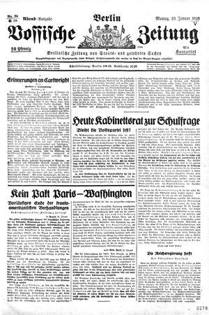 Vossische Zeitung vom 23.01.1928