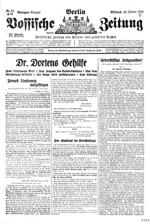 Vossische Zeitung vom 25.01.1928