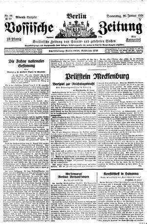 Vossische Zeitung vom 26.01.1928