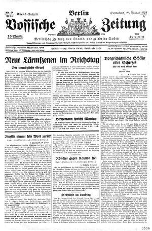 Vossische Zeitung vom 28.01.1928