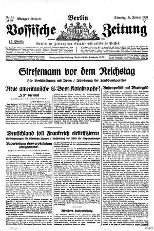 Vossische Zeitung vom 31.01.1928