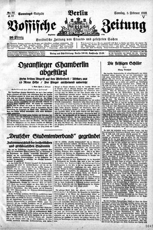 Vossische Zeitung vom 05.02.1928