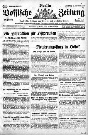 Vossische Zeitung vom 07.02.1928