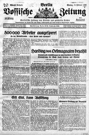 Vossische Zeitung vom 13.02.1928