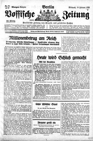 Vossische Zeitung vom 15.02.1928