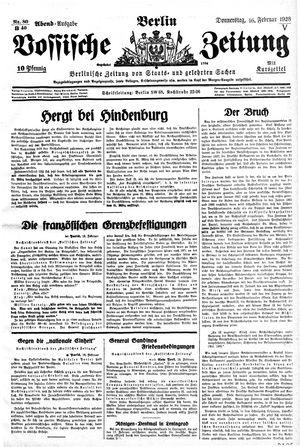 Vossische Zeitung vom 16.02.1928