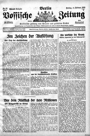 Vossische Zeitung vom 17.02.1928