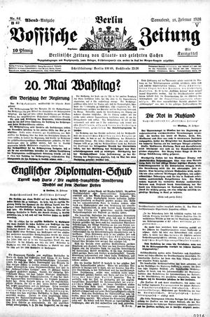 Vossische Zeitung vom 18.02.1928