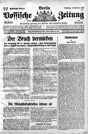 Vossische Zeitung vom 19.02.1928