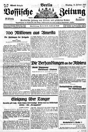 Vossische Zeitung vom 21.02.1928