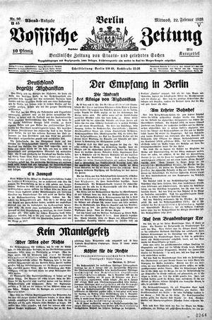Vossische Zeitung vom 22.02.1928
