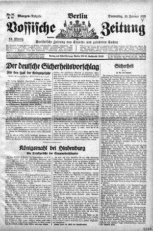 Vossische Zeitung vom 23.02.1928