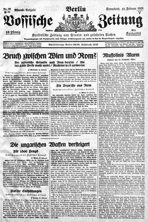 Vossische Zeitung on Feb 25, 1928