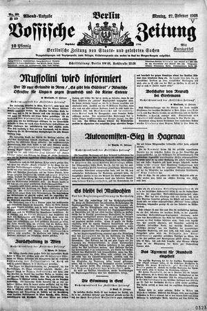 Vossische Zeitung vom 27.02.1928