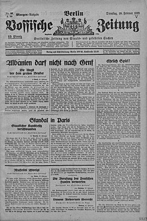 Vossische Zeitung vom 28.02.1928