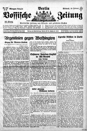 Vossische Zeitung vom 29.02.1928
