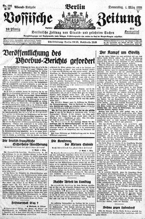 Vossische Zeitung on Mar 1, 1928