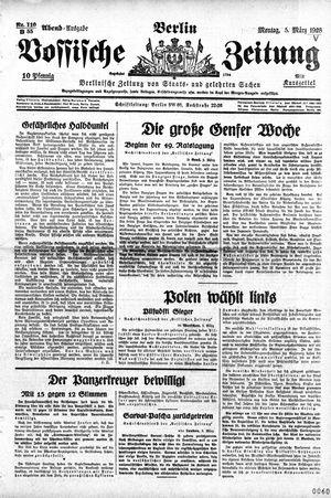 Vossische Zeitung vom 05.03.1928
