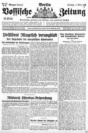Vossische Zeitung on Mar 6, 1928