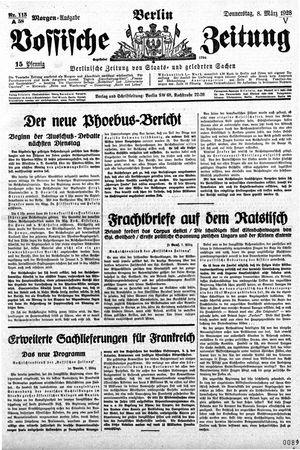 Vossische Zeitung on Mar 8, 1928