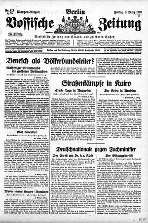 Vossische Zeitung vom 09.03.1928