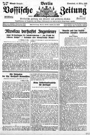 Vossische Zeitung vom 10.03.1928